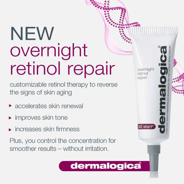 Dermalogica makes a product that is 1% Retinol call Overnight Retinol Repair and is the strongest and best for smoothing out texture and brightening pigmentation (Image: Courtesy of Dermalogica)
