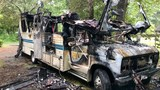 Camper completely destroyed by fire on Bernice Hudson Drive