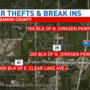 Car lot thefts possibly related to area break-ins