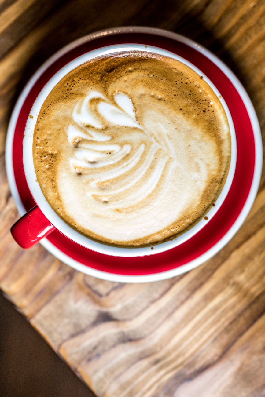 A classic latte / Image: Catherine Viox{ }// Published: 7.18.20