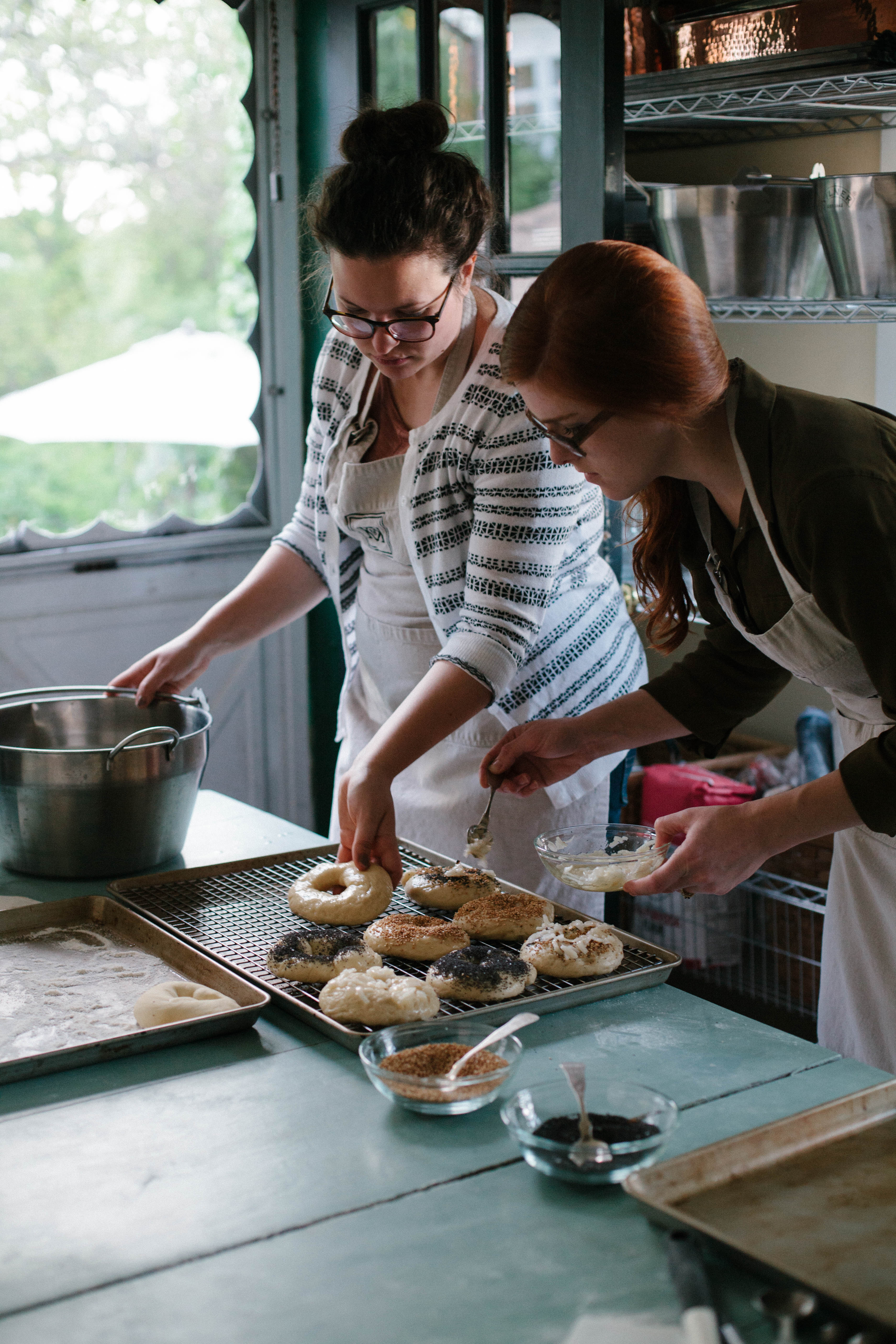 Bakers at the Ready at Knead and Know{ }(Image: Courtesy Melinda Friend)