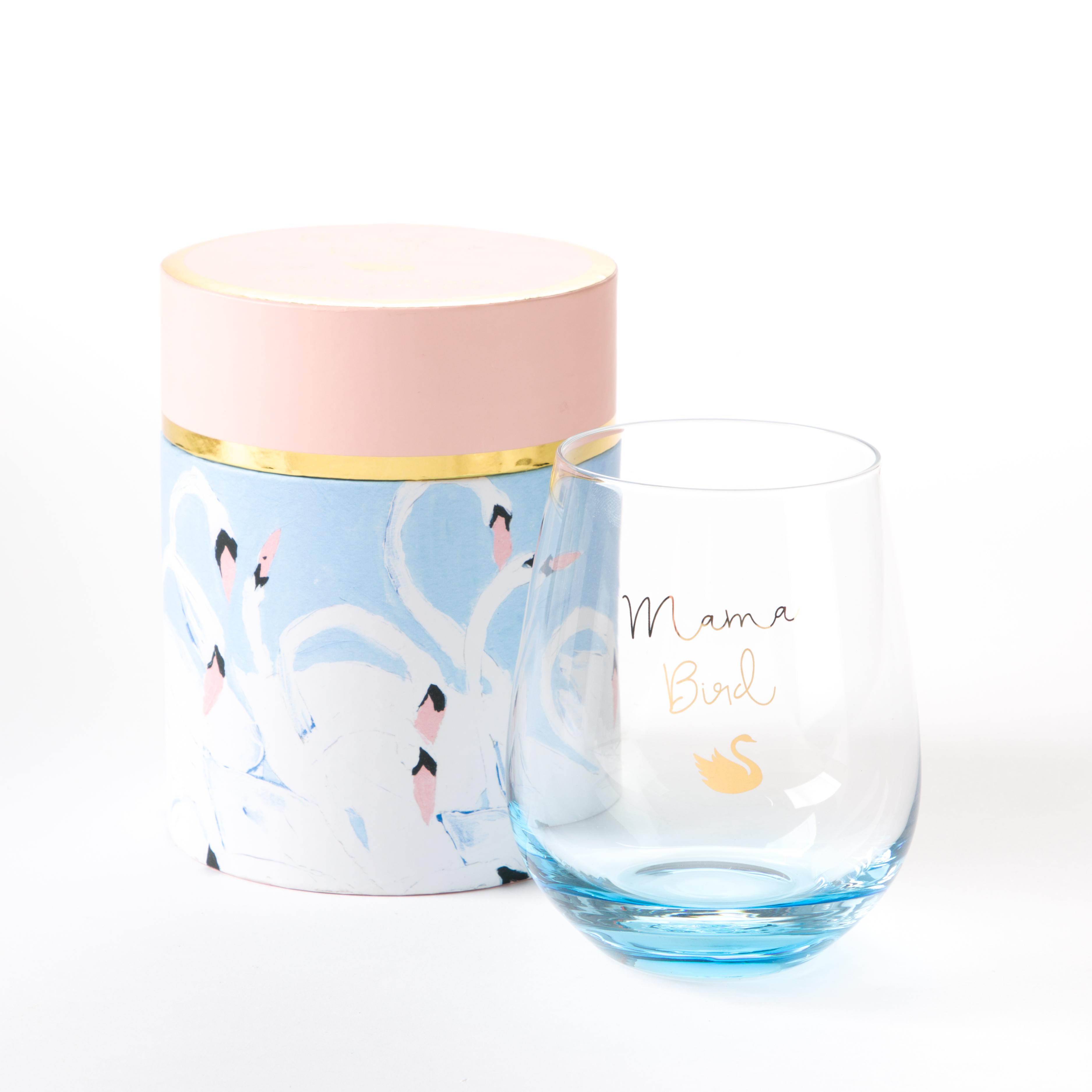 PAPYRUS Mama Bird Stemless Wine Glass // Price: $14.95 // Purchase at PAPYRUS stores // (Photo: PAPYRUS)