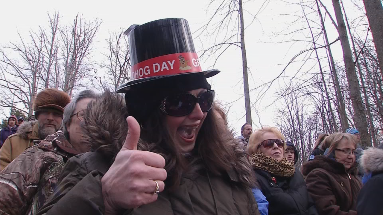 This big fan of Freddie enjoys the Groundhog Day celebration at the West Virginia Wildlife Center in Upshur County. (WCHS/WVAH)