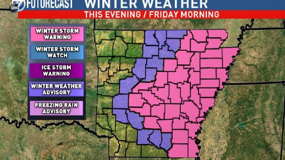 next round of winter weather arrives in arkansas