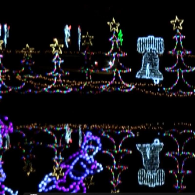City of Christmas display in Keokuk
