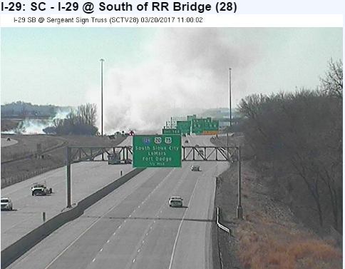 I-29 grass fire NB