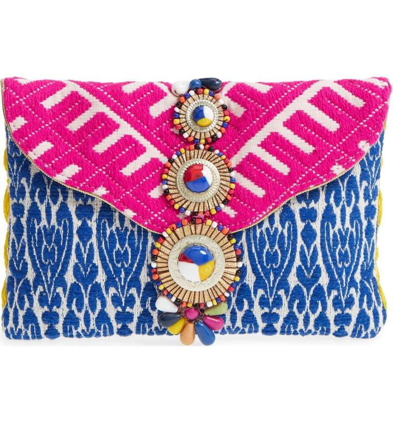 <p>This Steven by Steve Madden Beaded &amp; Embroidered Clutch is a perfect way to spice up your outfit!{&amp;nbsp;} It can make any bland top or dress stand out. $75.00 at Nordstrom. (Image: Nordstrom){&amp;nbsp;}</p><p></p>