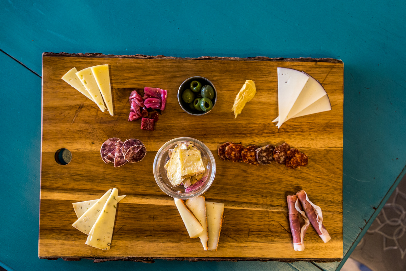 A charcuterie board featuring cheeses from Lamp Post and other local cheese and meat vendors / Image: Catherine Viox