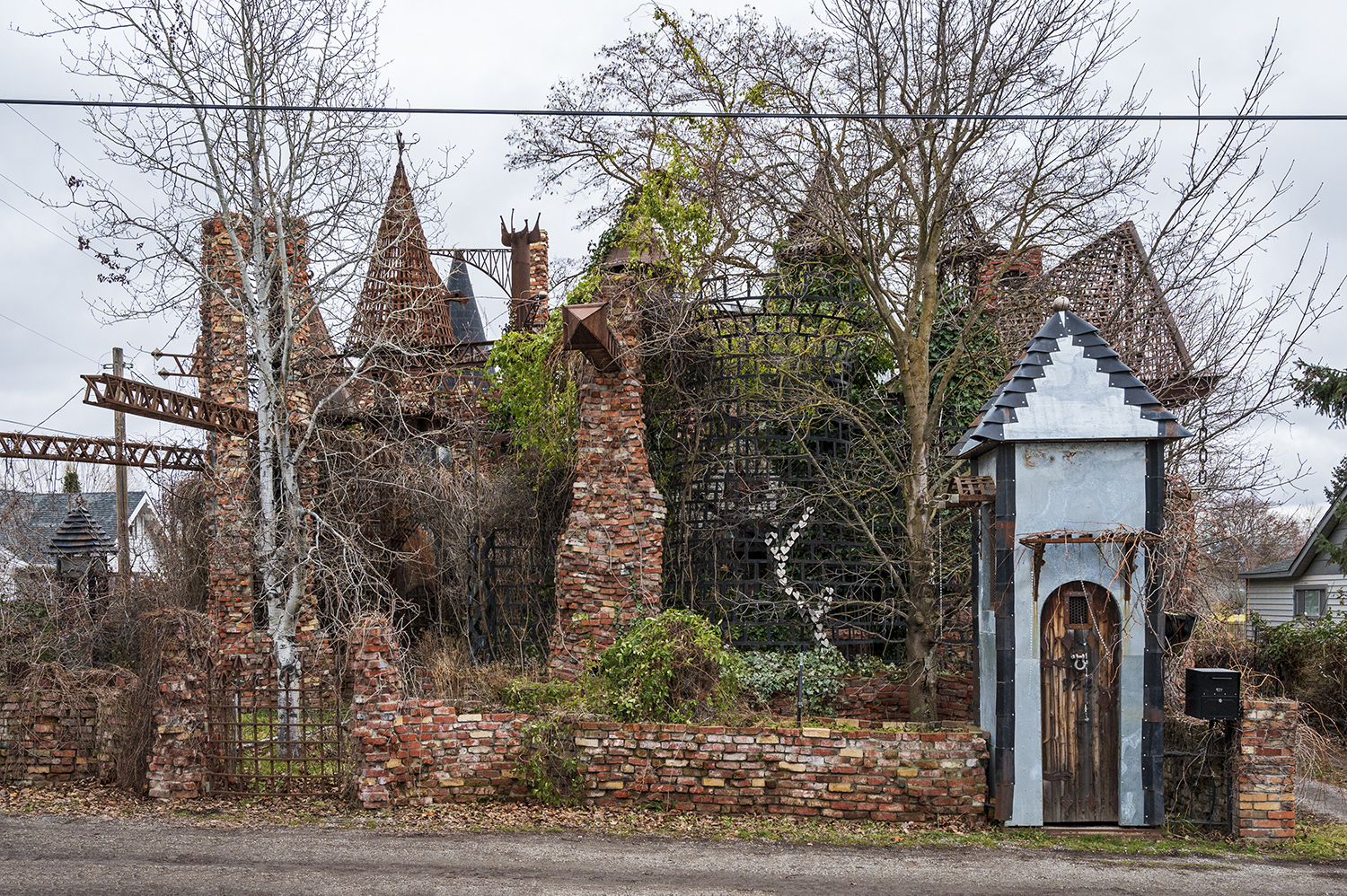 "About 15 minutes from downtown Spokane, Google maps will direct you to a ""tourist attraction"" in Spokane Valley listed as Vercler Castle. Covered in ivy and shaded by tall neighborhood trees, this ""castle"" is a must-see from the road. (Rachael Jones / Seattle Refined)"