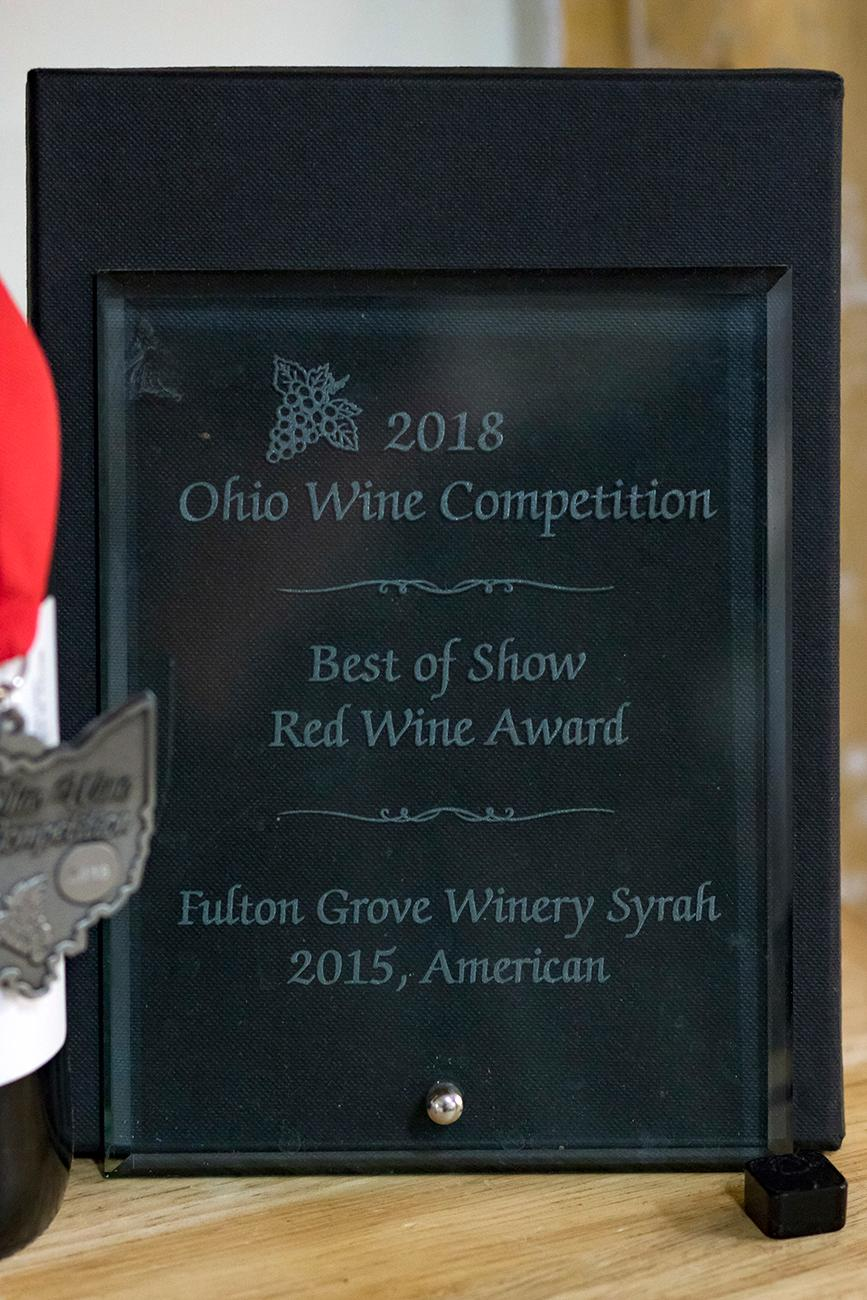 2018 Ohio Wine Competition: Best of Show and Double Gold Award 2015 Syrah / Image: Allison McAdams // Published: 5.30.19