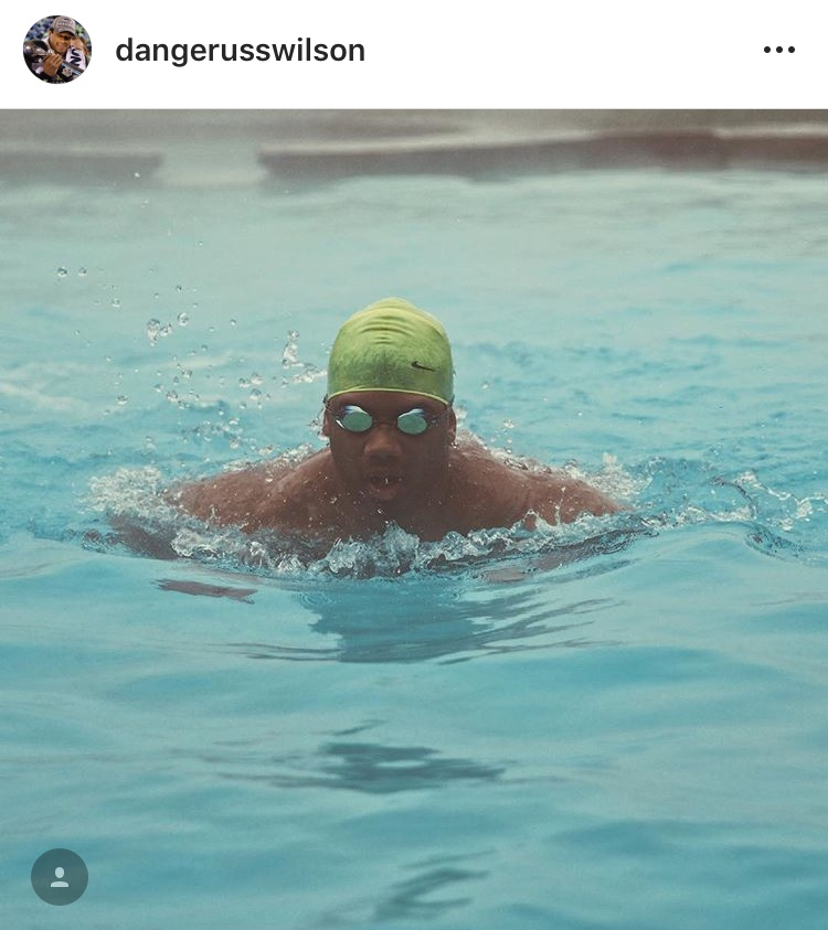 That one time Russ was pretty much Michael Phelps...Happy 30th, Russell! (Image: @dangerusswilcon / Instagram.com/dangerusswilson){ }