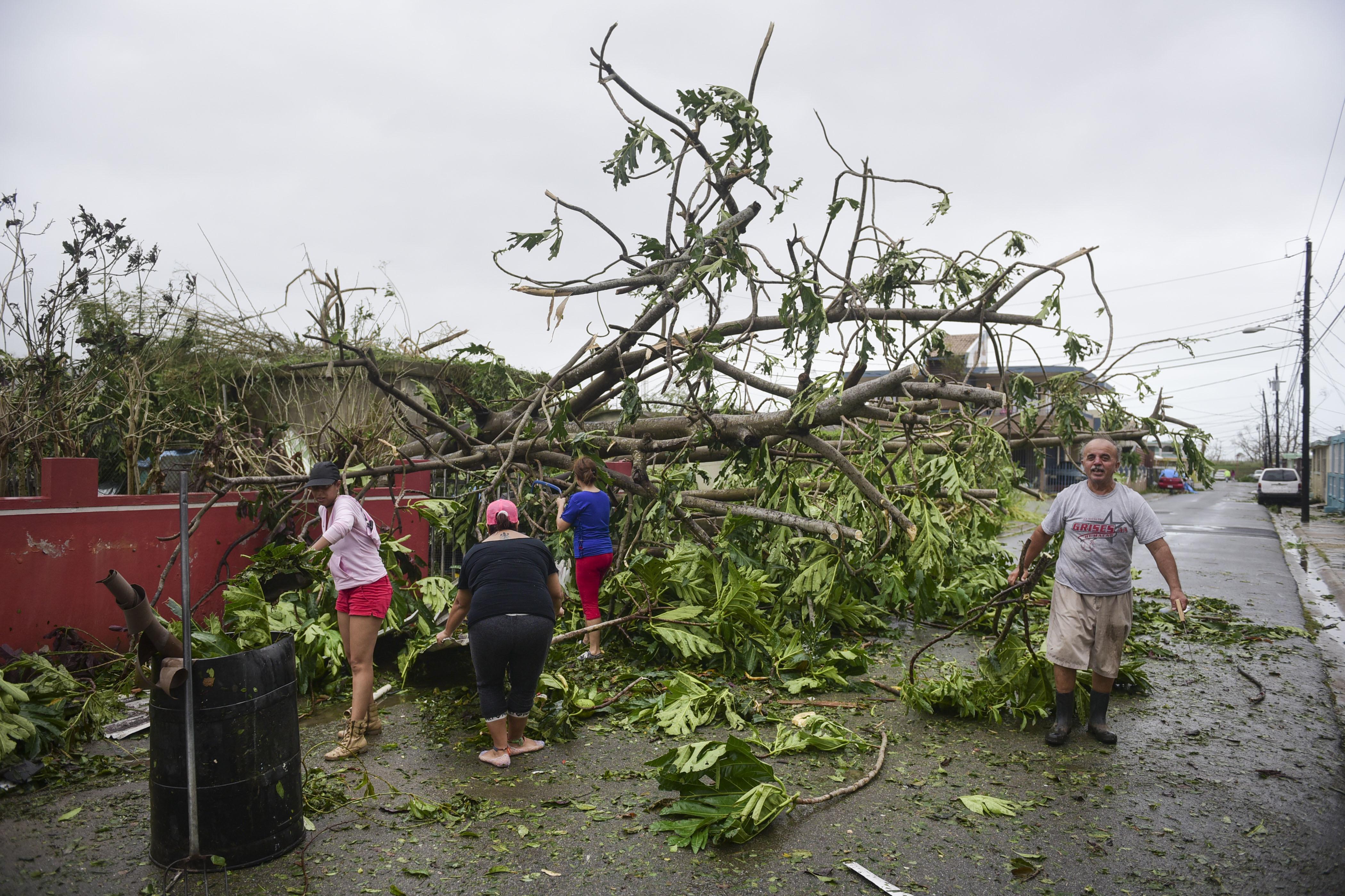 Scenes Of Hurricane Damage In Puerto Rico Wluk