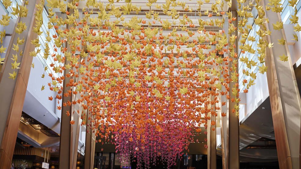 ARIA introduces Japanese garden display to lobby