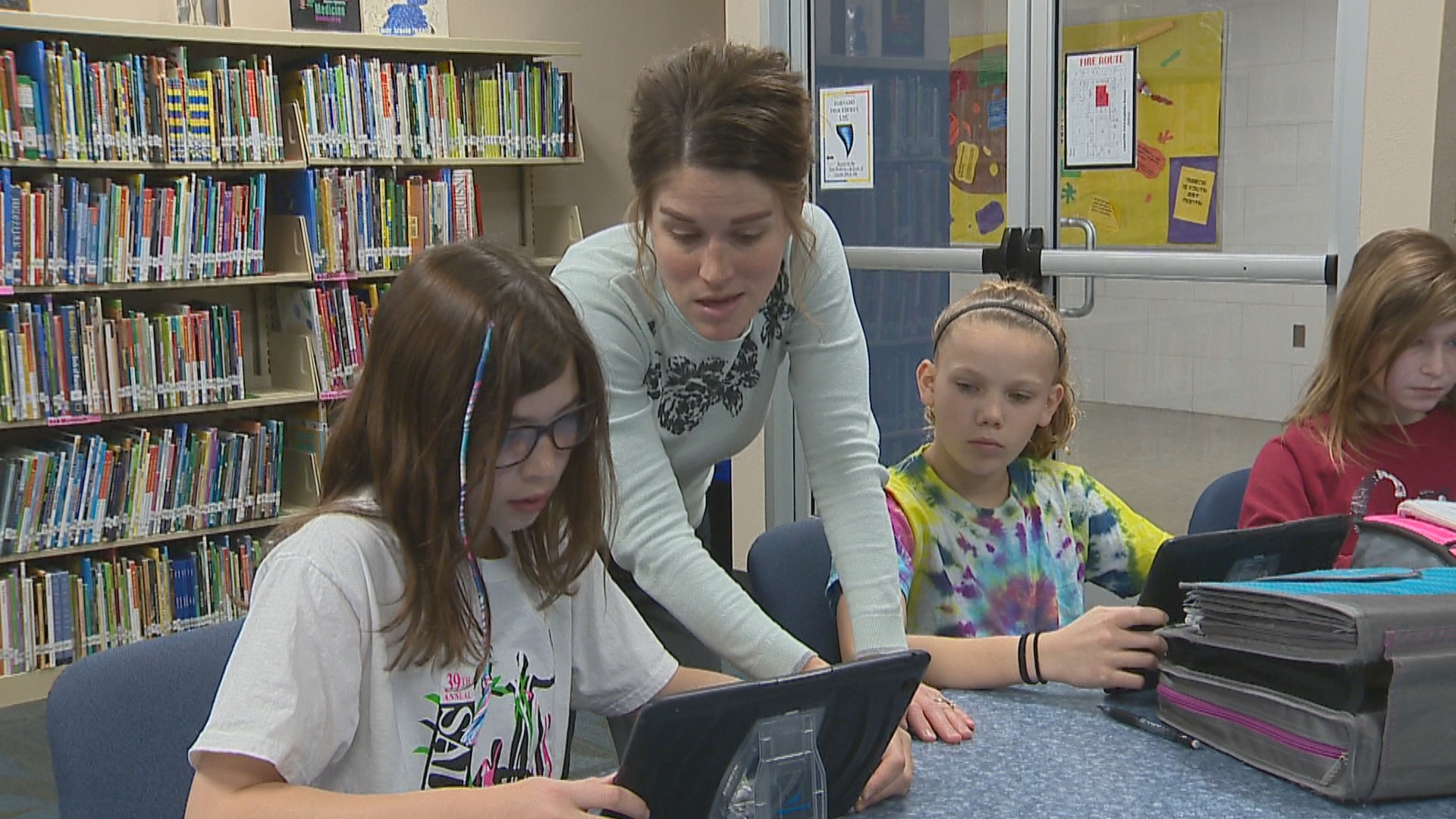 Golden Apple recipient, Danielle Schuh, inside her classroom at Bayview Middle School. (WLUK)