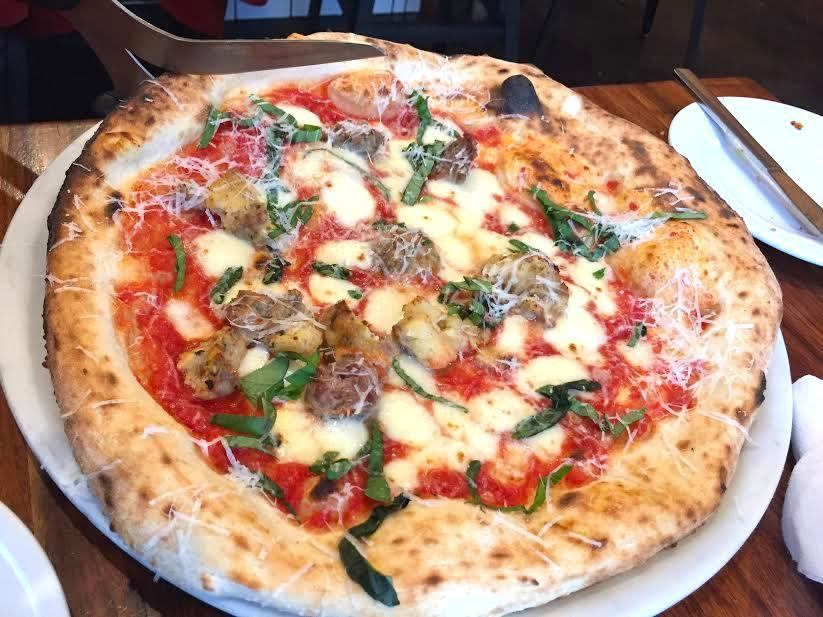 A great option for post-skiing rations include Lampo Neapolitan Pizzeria, which serves wonderful pizzas and antipasti — including a better-than-average beet salad and tender meatballs — plus great zeppole and a wonderful play on chocolate pudding served with salted hazelnut brittle.(Image: Rina Rapuano)