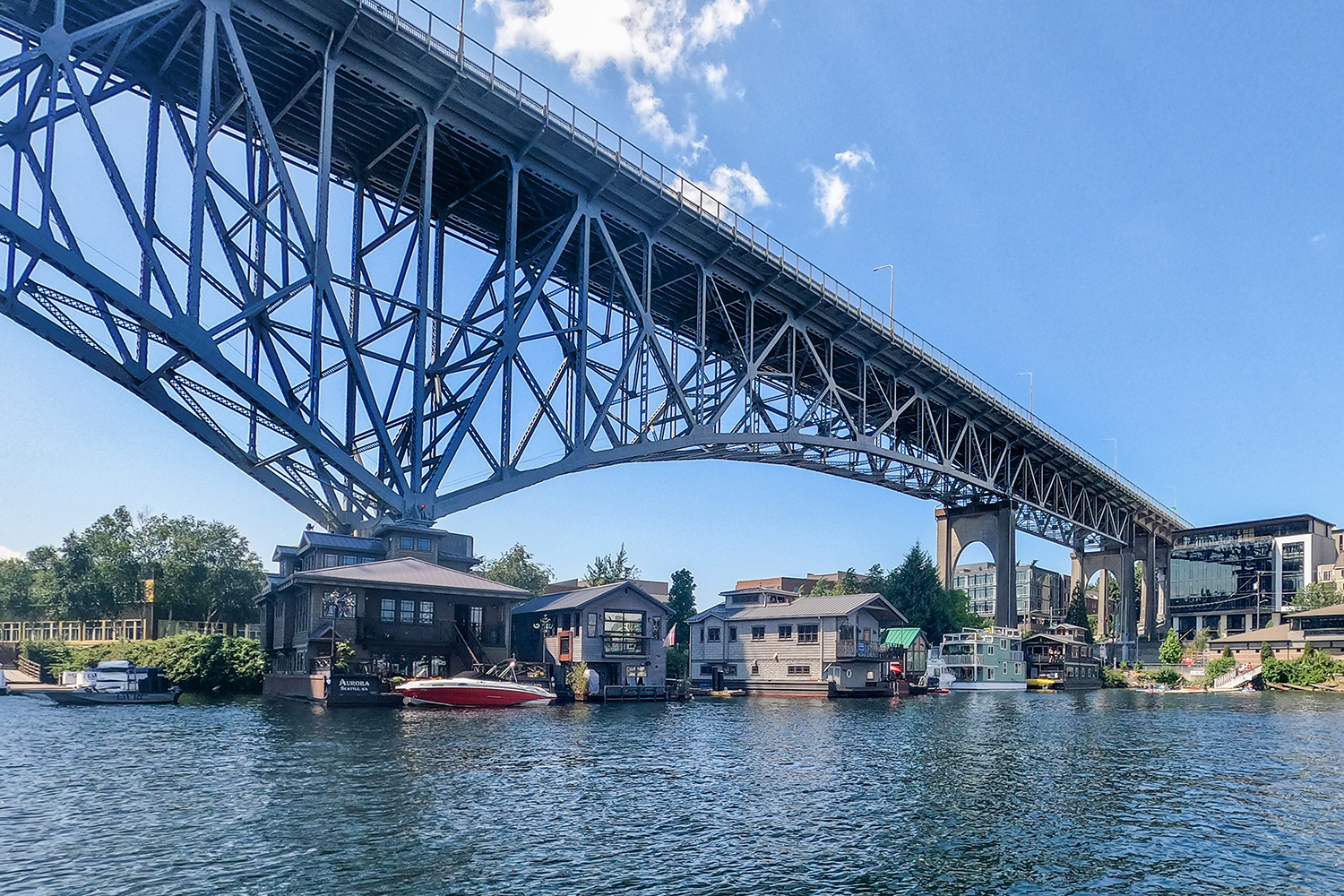 Aurora Bridge. The frequently-busy bridge spans over Seattle's well-known Lake Union, and is also said to be the city's most haunted bridge.{ }(Image: Rachael Jones / Seattle Refined)