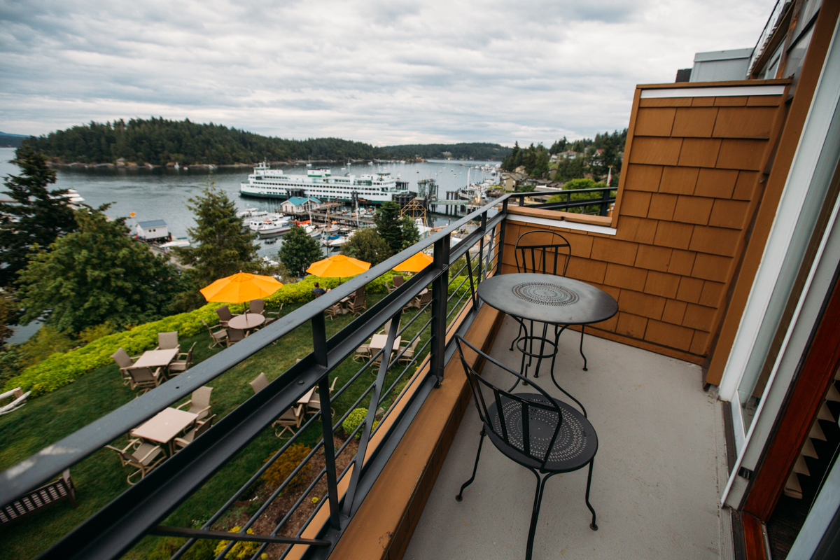Just a short ferry ride away, Friday Harbor House, in the San Juan Islands, offers cozy rooms with a fireplace, an oversized jetted tub-for-two and more. Friday Harbor dining experience offers panoramic views of the San Juan Channel, ferry landing and marina at The Bluff Restaurant • Bar • Terrace. Learn more about Friday Harbor House and book your next getaway at their website here. (Joshua Lewis / Seattle Refined)