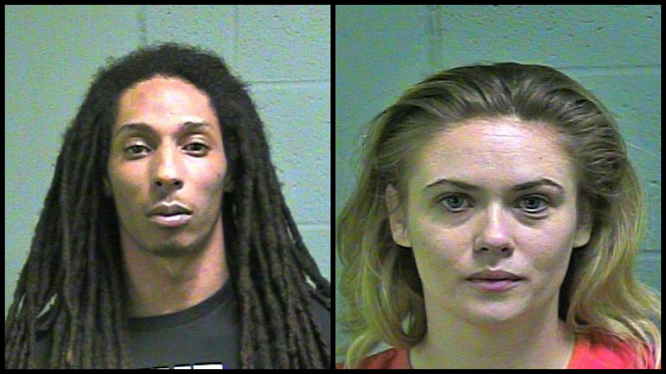 Lawrence Moore and Micah Madison Parker were arrested March 30 in connection to prostitution in Oklahoma City. (Oklahoma County Jail)