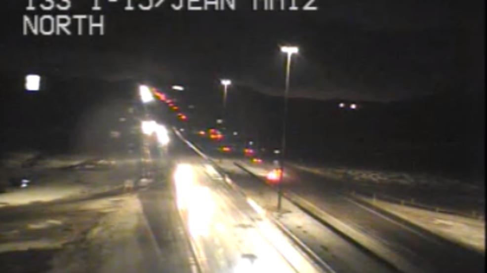 Weather causing hazardous conditions on I-15 around Jean