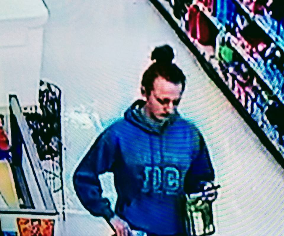 Pinconning police are asking for the public's help in identifying a shoplifting suspect. (Photo: Pinconning Police Department)