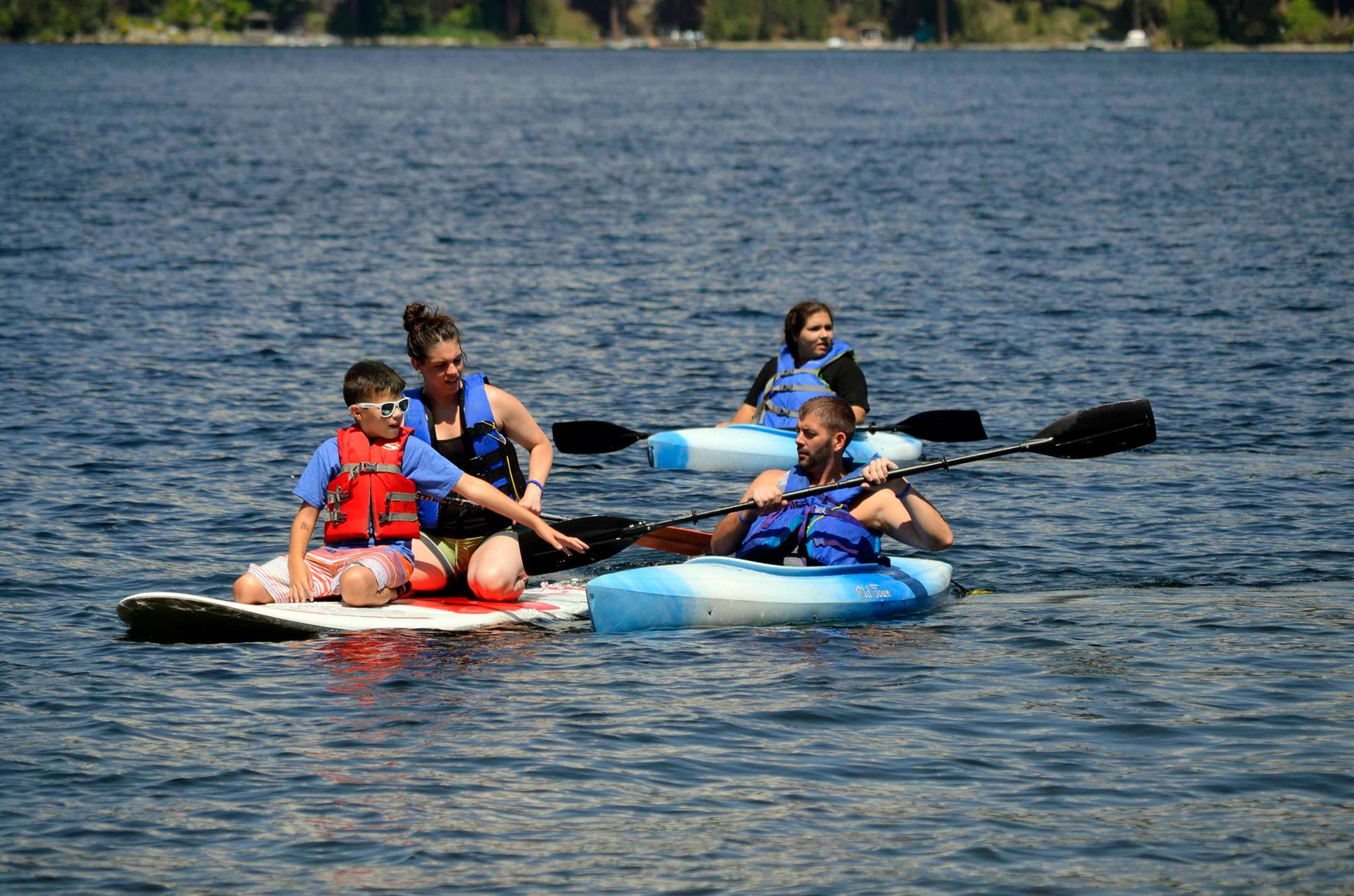The campers spend two days swimming/ participating in water activities if they feel comfortable, at the Cascade camp. Courtesy: Camp River Run
