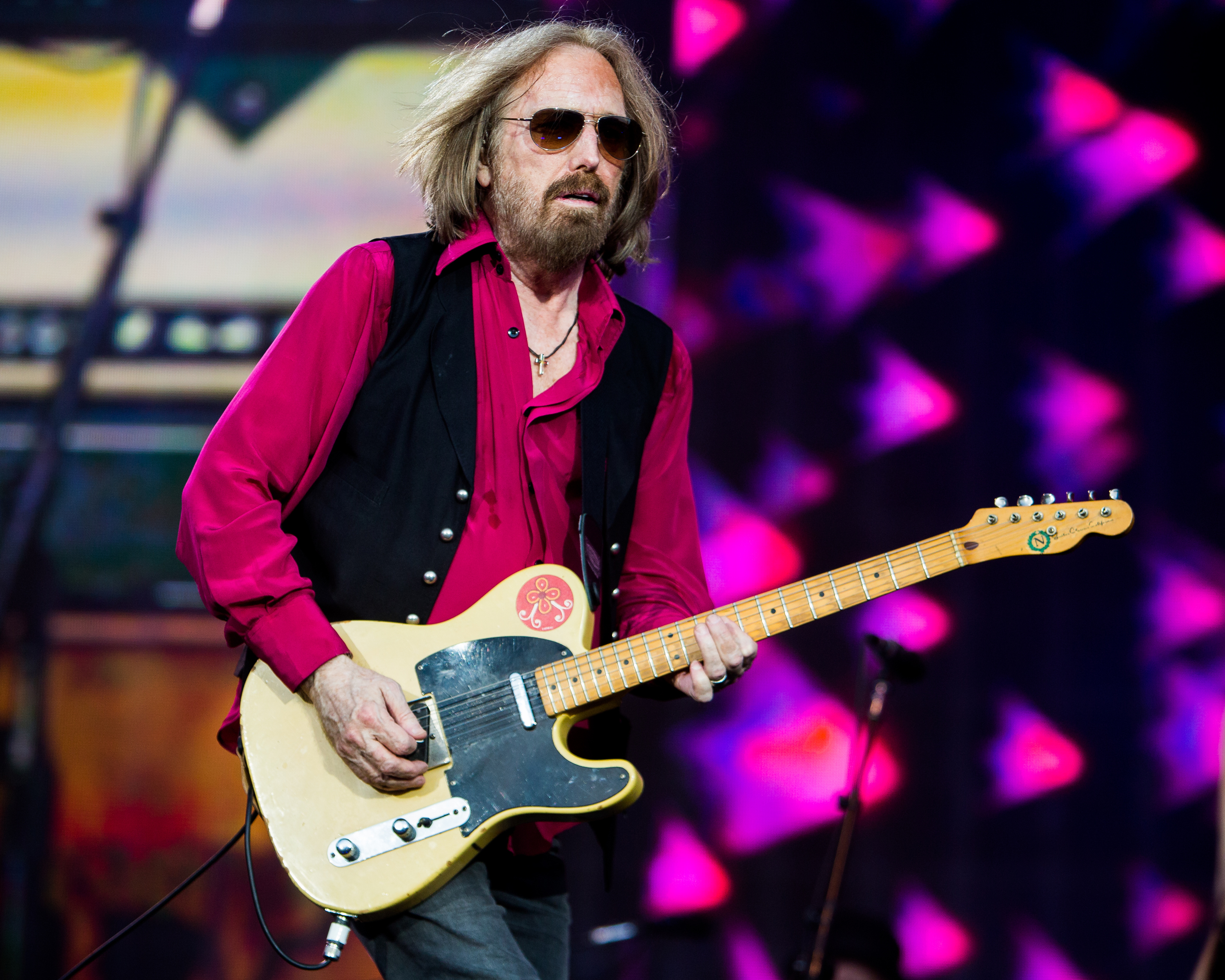 Tom Petty who died on Monday night in Los Angeles after he suffered a cardiac arrest, seen here at Barclaycard BST in the park, July 2017  Featuring: Tom Petty and the Heartbreakers Where: London, England, United Kingdom When: 03 Oct 2017 Credit: Wheatley/WENN