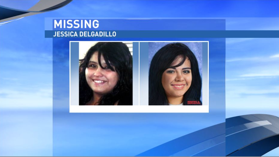 "Jessica Delgadillo has been missing since Oct. 20, 2010. She would now be 21 years old. She had black hair and brown eyes. She is about 5'6"" tall, weighed around 200 pounds and has a small scar above one eye. NCMEC provided an age-progressed photo to show what Delgadillo could look like today. (National Center for Missing and Exploited Children)"