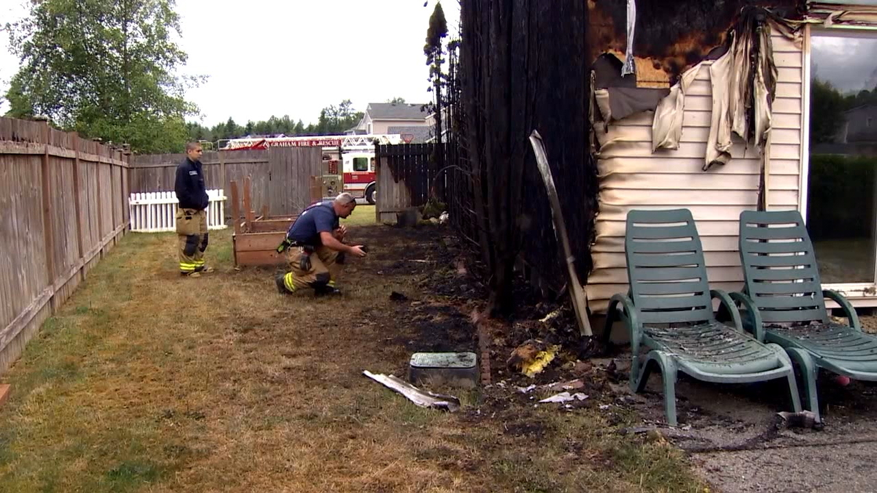 On July 4, 2016, then 13-year-old Ryan Skog was setting off fireworks in his backyard with his mother's supervision, when a mortar tipped over and fired over his neighbor's fence. It went into her shrubbery, quickly setting the neighbor's house ablaze. (Photo: KOMO News)