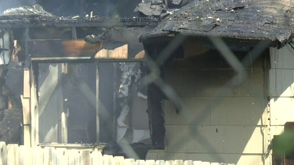 A grease fire got out of hand and completely destroyed a Northeast Side home Monday afternoon. (SBG San Antonio)