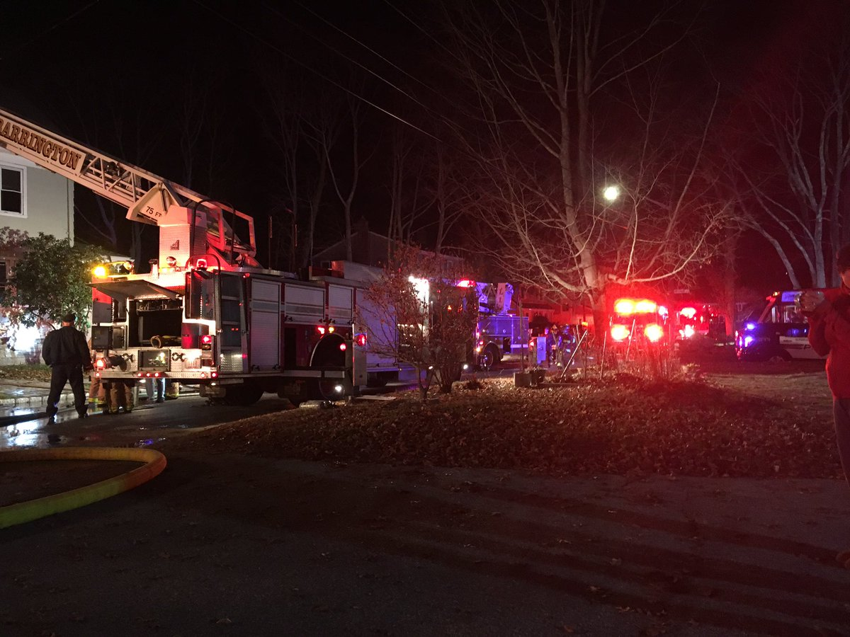 A Seekonk firefighter was injured at a Barrington house fire Wednesday night, a witness told NBC 10 News. (WJAR)
