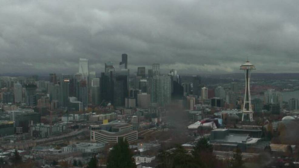 Thursday's gloomy Seattle weather was nearly unique in its monotony