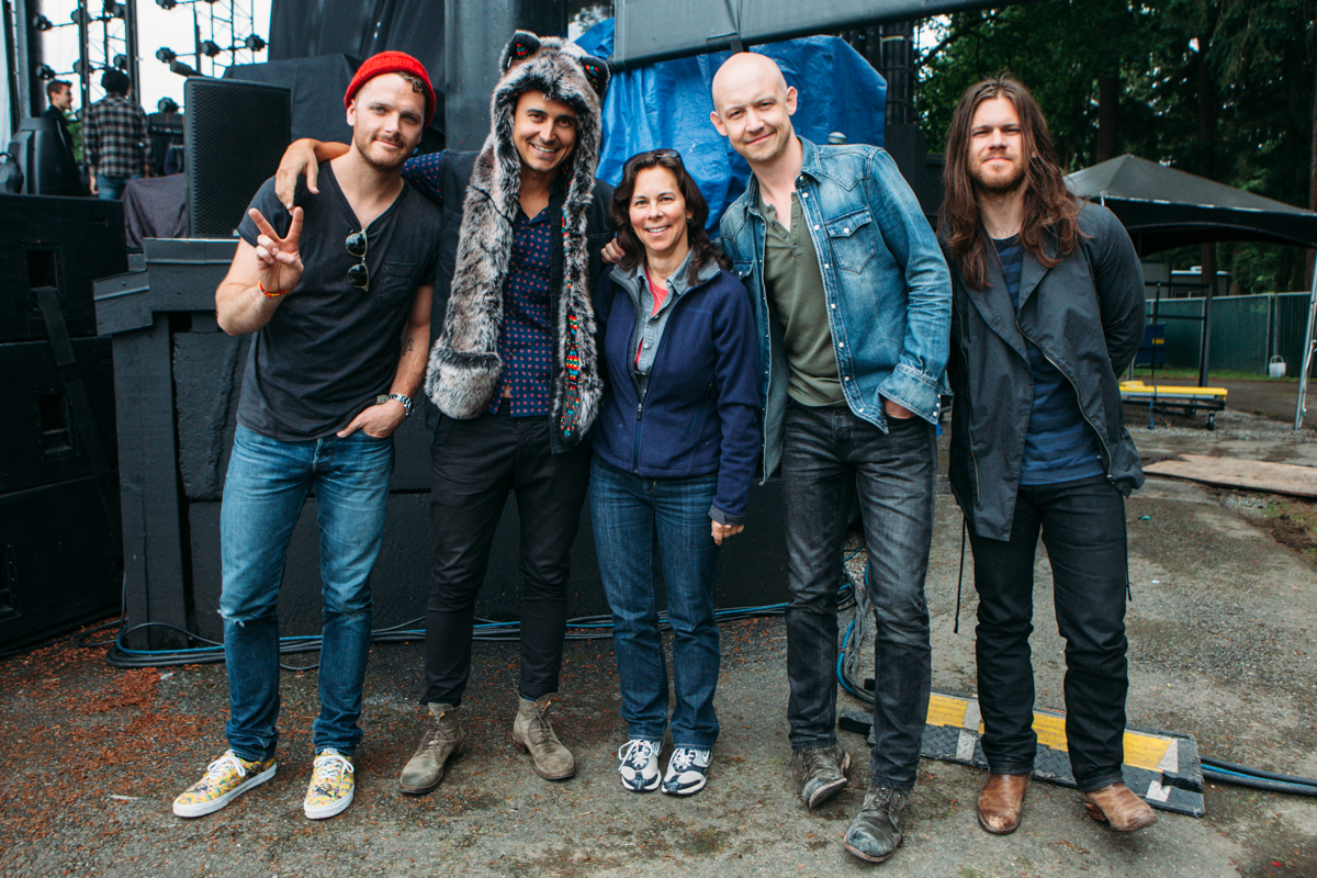 STAR 101.5 and The Fray hosted a STAR Stage for a few lucky winners at their sound check at Marymoor Park Amphitheater in Redmond, WA. The Fray kicked off the 2014 Marymoor Park Concert series that will continue through the summer. June 17th 2014. (Joshua Lewis)