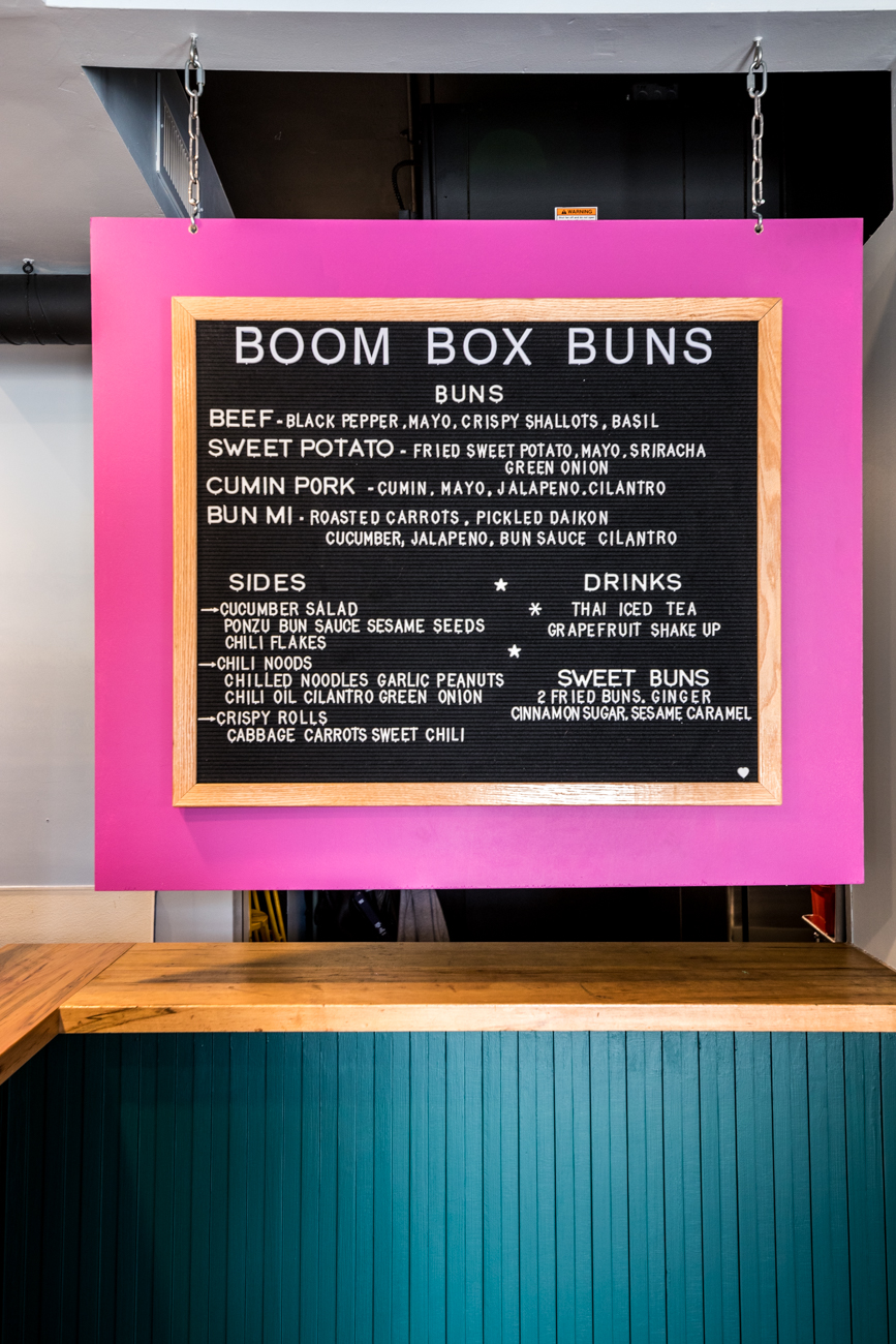 They've been serving their fluffy buns with five-star toppings through takeout and delivery services. They're currently open for takeout on Tuesday through Sunday from 12 to 8 PM. Stay up to date on their Instagram and Facebook (@boomboxbuns) for changes. / Image: Catherine Viox // Published: 6.4.20