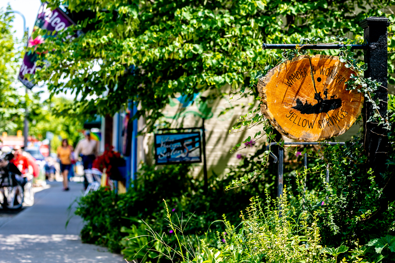 Yellow Springs, a town nearly 70 miles north of Cincinnati, is known for its eclectic array of shops, art galleries, and restaurants, as well as the natural spring for which it's named. Cyclists particularly enjoy visiting due to the miles of bike trail installed over the footprint of what was once Yellow Springs' thriving railroad. In addition to being an exceptionally diverse town of social and political views, Yellow Springs is well known for being the home of stand-up comedian Dave Chappelle. / Image: Amy Elisabeth Spasoff // Published: 8.10.18