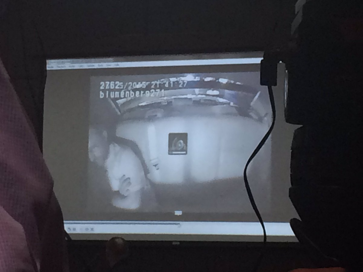 Video from inside the squad car of Benjamin Brewer after the crash was played at the hearing. (Image: WTVC)