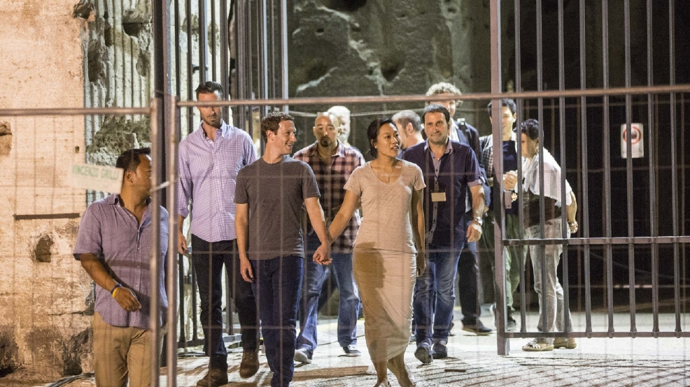 PHOTOS | Mark Zuckerberg and wife enjoy late-night tour of Rome's Colosseum