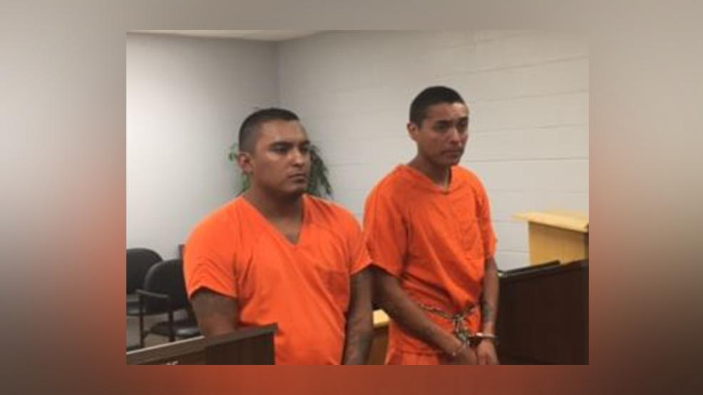Investigators with the Hidalgo County Sheriff's Department arrested Adrian Davila, left, and Jose Alfredo Carlos, right, for their roles in an Edinburg robbery, according to a news release. (Photo courtesy of the Hidalgo County Sheriff's Office)