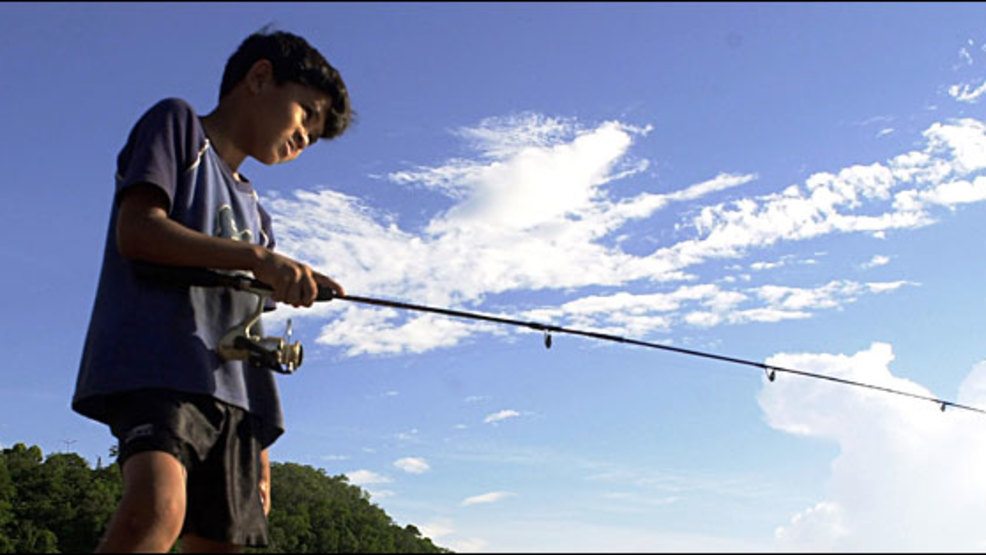 Ndow hosts kids free fishing day at sparks marina on june for Sparks marina fishing