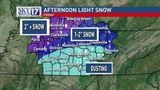 LATEST: Snow, sleet falls in middle Tennessee