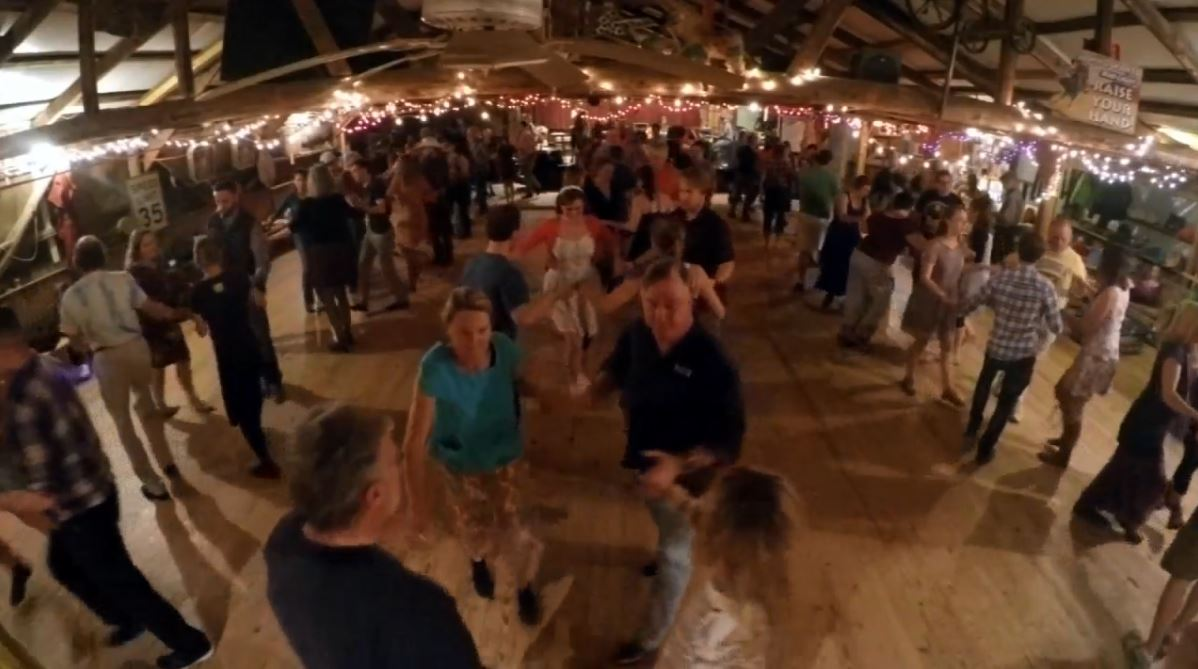 In this week's Carolina Moment, photojournalist Kristi Harper got caught up in the action of contra dance in River Falls, South Carolina. (Photo credit: WLOS Staff)