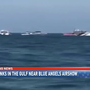 Boat sinks in the Gulf near Blue Angels airshow