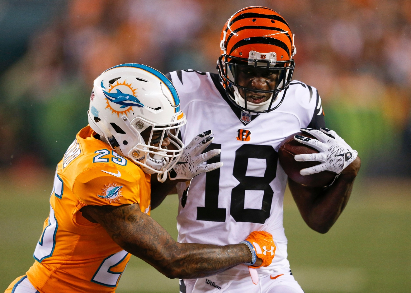 Where does AJ Green rank among AP s list of best WR in NFL