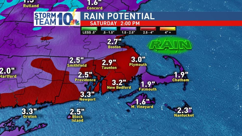Flooding rain moves in Friday
