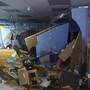 Picture shows flood damage to Cranston elementary school