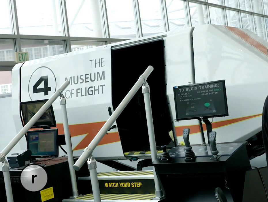 The Museum of Flight offers special experiences, like flight simulators, Boeing Field tours, or 3-D movies.