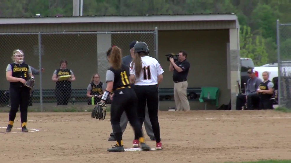 4.24.19 Highlights - Monroe Central vs Crestview - OVAC 3A softball semifinal