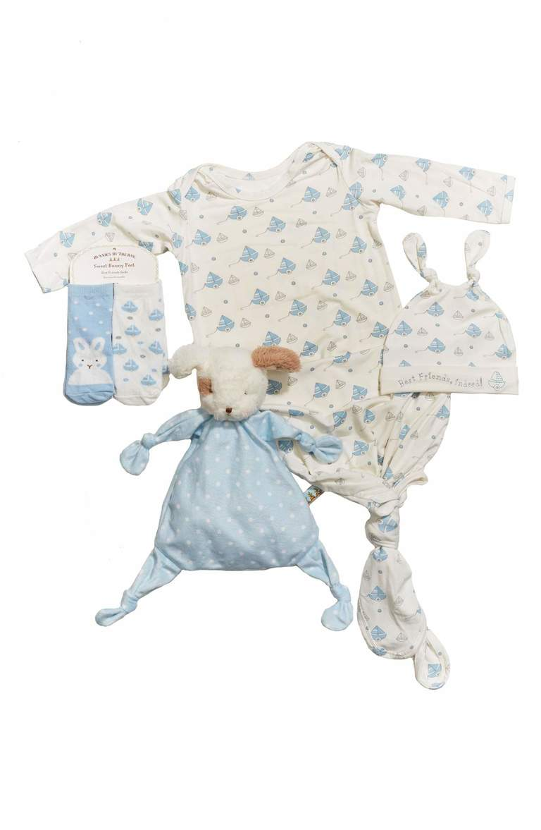For your little Mr., try this set of snuggly newborn essentials that make for an adorable and thoughtful Easter look. Price: $80 (Image: Nordstrom){ }