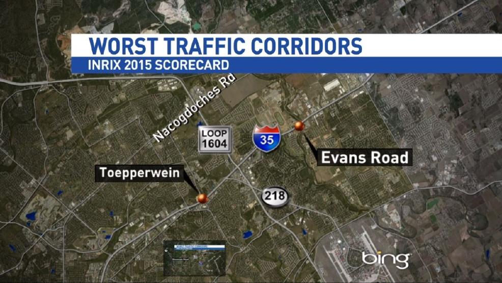 US worst traffic corridors in San Antonio | WOAI