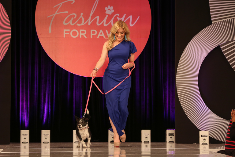 Spotted at Fashion for Paws: This runway look is ready to wear! That deep blue keeps the silhouette balanced with some classic vibes. (Amanda Andrade-Rhoades/DC Refined)