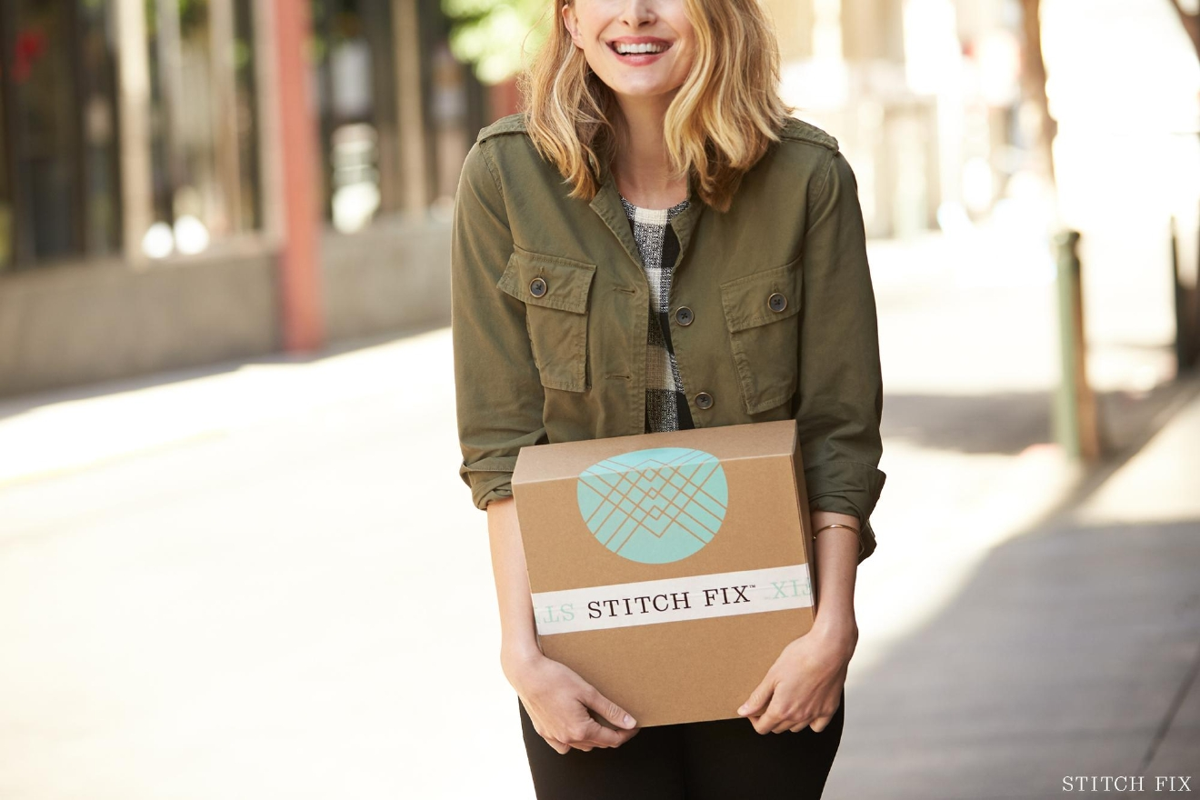 "Stitch Fix is an apparel delivery service that comes to your door however often you want new items. The mission of Stitch Fix is to make shopping easy and enjoyable. They believe that pairing technology with the human element of personal styling achieves the most personalized, ""effortlessly gratifying shopping experience."" The idea is to save time, look great and evolve your personal style over time. (Image: Stitch Fix)"